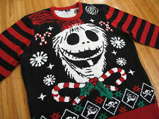 DISNEY Jack Skellington Nightmare Before Christmas Sweater L holiday halloween