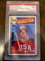 1985 Topps #401 Mark McGwire Rookie RC '84 USA Baseball Team Graded PSA 9 Mint