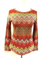 Vintage ROBERTA di CAMERINO Red/Multicolor Viscose-Blend Knit Sweater Top Sz40/6
