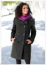 Polyester Check Hip Outdoor Coats & Jackets for Women