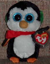 """TY BEANIE BOOS - NORTH  the 6"""" HOLIDAY PENGUIN - MINT with MINT TAG"""