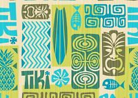 A4| Awesome Surf Pattern Poster Print Size A4 Tribal Surfing Poster Gift #14380