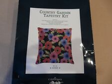 """Country Garden Collection Tapestry Kit Needlepoint Anemone 14"""" x 14"""" - NIP"""