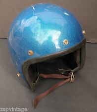 Vintage 1970s YAMAHA Motorcycle Helmet (Glitter Blue) Yamaha 605