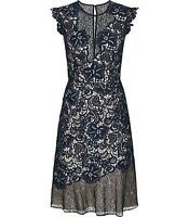 Reiss June Lace Embroidered Dress Navy Blue - Sizes UK 4 to 16  rrp £250