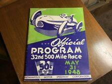 1948 INDIANAPOLIS INDY 500 PROGRAM RACE RACING