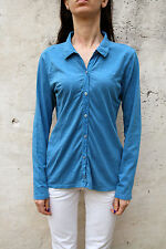 NS North Sails Womens Casual Shirt Emerald Blue Top Cotton Long Sleeved L