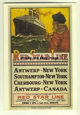 ad2222 - Red Star Line - modern poster advert postcard