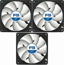 3 X Arctic Cooling f9 92mm CASE FAN 1800 RPM (Afaco - 09000-gba01) AC ARTIC