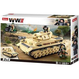 Sluban WWII - Deutscher Panzer 2in1 mit 2 Bauanleitungen M38-B0693