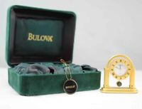 Bulova Miniature Berkeley Clock B0567 Solid Brass