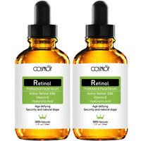 2x Anti Aging Wrinkles Serum Retinol Serum 2.5% & Vitamin E & Hyaluronic Acid US
