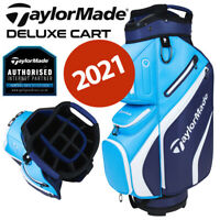 TaylorMade Deluxe 14-WAY Trolley/Cart Golf Bag Navy/Blue - NEW! 2021