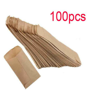 100pcs Kraft Paper Bags Cookie Candy Gift Bag Protective Isolation Packages New
