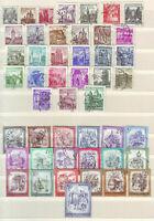 Österreich 47 verschiedene Freimarken, gestempelt, kl. Sammlung, Lot