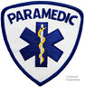 PARAMEDIC embroidered IRON-ON PATCH Star of Life Ambulance EMT/EMS SHOULDER