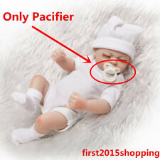 Hot Bebe Reborn Doll Supply Mini White Kit Magnetic Dummy Baby Toy Pacifier 10""