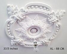 85CM GRAND Plafond Rose Beau Blanc orné Décor Maison Médaillon énorme CR7-XL
