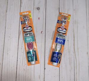 Set 2Arm & Hammer Spinbrush Pro+ Deep Clean Soft Powered Toothbrush