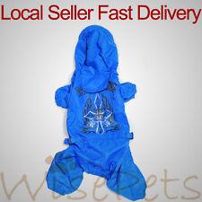 Waterproof Pet Dog Rain coat comfy interior lining Four legs & Hoodie