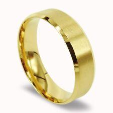 Men Titanium Ring Gold Matte Wedding Band Anniversary Engagement Ring 7mm