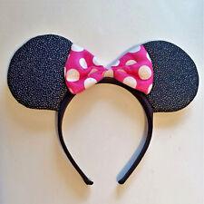 Cute Girls American Greetings Minnie Mouse Glitter Ears & Pink Bow Headband