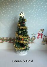 "DOLLS HOUSE TABLE TOP ""TINSEL""CHRISTMAS TREE DECORATION"