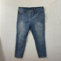 Torrid Womens Size 20 Medium Wash Designer Comfort Skinny Blue Denim Jeans