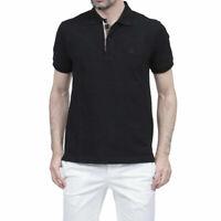 Burberry Brit Nova Check Polo Shirt Black Short Sleeve Size M 3459117