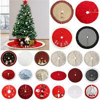 Christmas Tree Print Skirt Mat Cover Stand Apron Rug Xmas Festive Home Decor