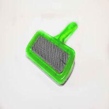 Green Brush Fur Shedding Grooming Steel Teeth Plastic Comb Tool For Pet Cat Dog