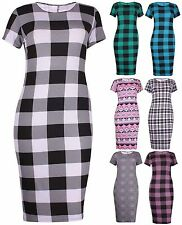 Calf Length Scoop Neck Short Sleeve Casual Dresses for Women