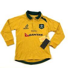 VINTAGE KooGa Australia WALLABIES Rugby Polo Yellow Long Sleeve Jersey
