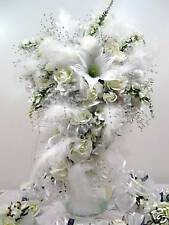 SILK WEDDING BRIDAL PACKAGE FLOWER  ~SNOW WHITE~