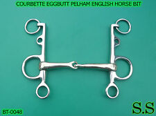 COURBETTE EGGBUTT PELHAM ENGLISH HORSE BIT, BT-0048