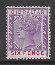 Gibraltar 1898 6d Violet & Carmine Sg 44 Perfecto.