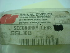 Federal Signal Secondary Lens SSL B  **Lot of 2** Lenses ONLY *NOS*
