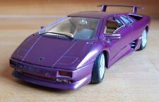 Lamborghini Diablo Purple 1990 1/18 - 3028 Bburago Diecast [MUST READ DESC]