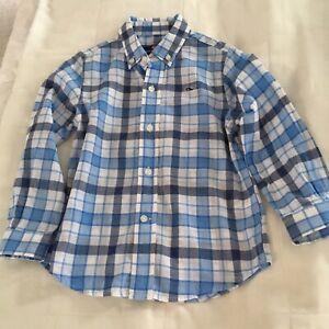 VINEYARD VINES BOYS WHALE SHIRT SIZE 4T WHITE AND BLUE