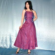 lila Satin COCKTAIL SET mit Abendrock + Corsage* S 36 * Eutikleid* Abendkleid