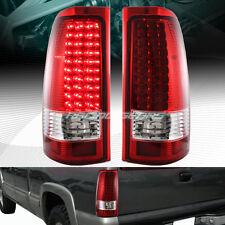 Chrome Housing Red/Clear Lens LED Tail Light Fit 99-06 GMC Sierra 1500 2500 3500
