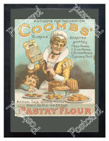 Historic Coombs Pastry flour, 1890s. Advertising Postcard 1