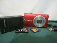 Canon PowerShot A4000 IS 16.0MP Digital Camera - Red - Ready To Use !!