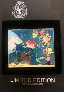 Disney Trading Pin Little Mermaid Ocean Scene & Finding Nemo Jumbo LE 500 98344