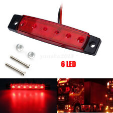 6 LED Clearance Side Marker Light Indicator Lamp Strip Truck Trailer 12V LED