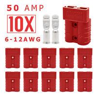 10 x Anderson Style Plug connector 50A Caravan Trailer Solar 4x4 truck Red