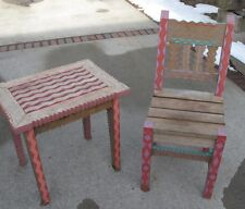 Rustic Southwest Mexican Solid Wood  Sun Chair and table