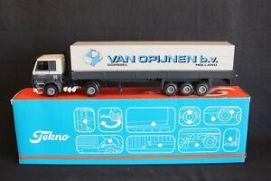 """Tekno Scania 142H truck + trailer """"van Opijnen bv Gorssel Holland"""" 1:50 (J&KvW)"""