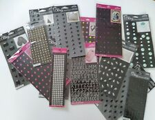 NIP Jolee/'s Boutique Square Silver stud bling adhesive Embellishments new