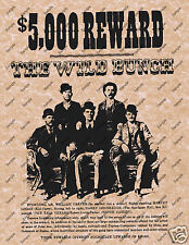$5000 REWARD THE WILD BUNCH OLD WEST WANTED POSTER Western Home Decor 039